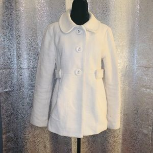 Forever 21 Off White Peacoat Size Large